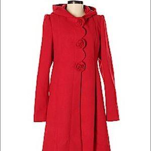 Red Rothschild Winter Dress Coat, Size 16